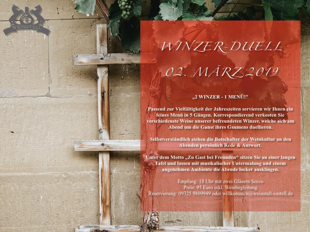 WINZER-DUELL: 2 Winzer - 1 Menü