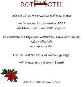 Rothweinhotel invites you to a pre Christmas market