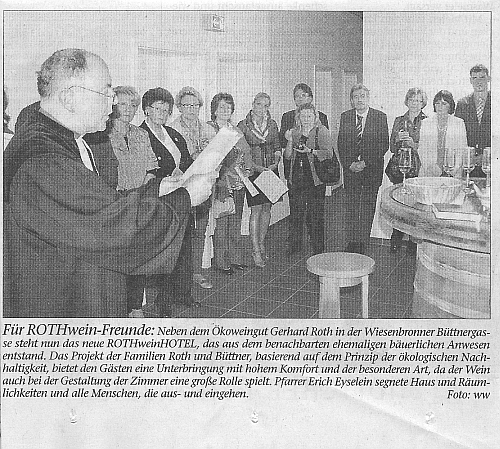 Zeitungsartikel DIE KITZINGER Eröffnung Rothweinhotel