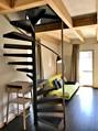Wendeltreppe zum Schlafzimmer