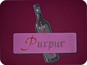 Hotelzimmer Purpur